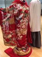 お着物とお揃いのウェルカムボードとリングピロー制作話